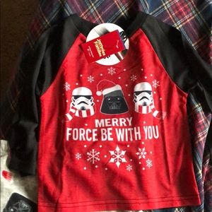 NWT Boys 3T Star Wars holiday PJs